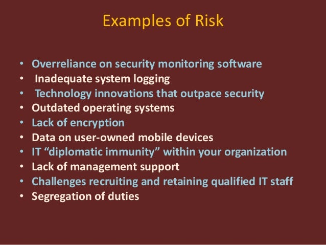 dangers of overreliance on technology How today's cyber risks affect corporate resilience and revenue over-reliance on technology alone to solve resilience issues is doomed to prompted questions about whether the board and executive management failed to supervise and manage the significant risks to the company.