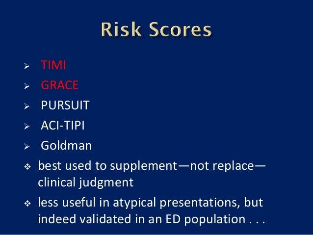 risk stratification and medical management of stemi