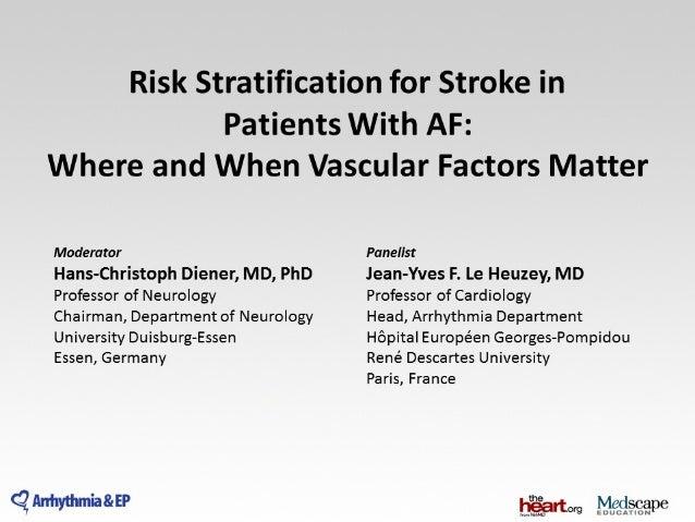 Risk stratification for stroke in patient with af