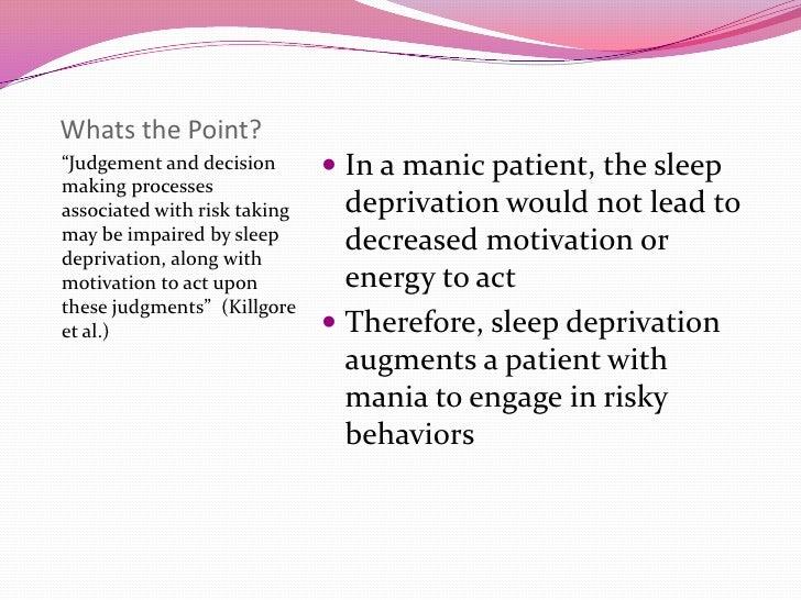 Treating bipolar and sexually risky behaviors