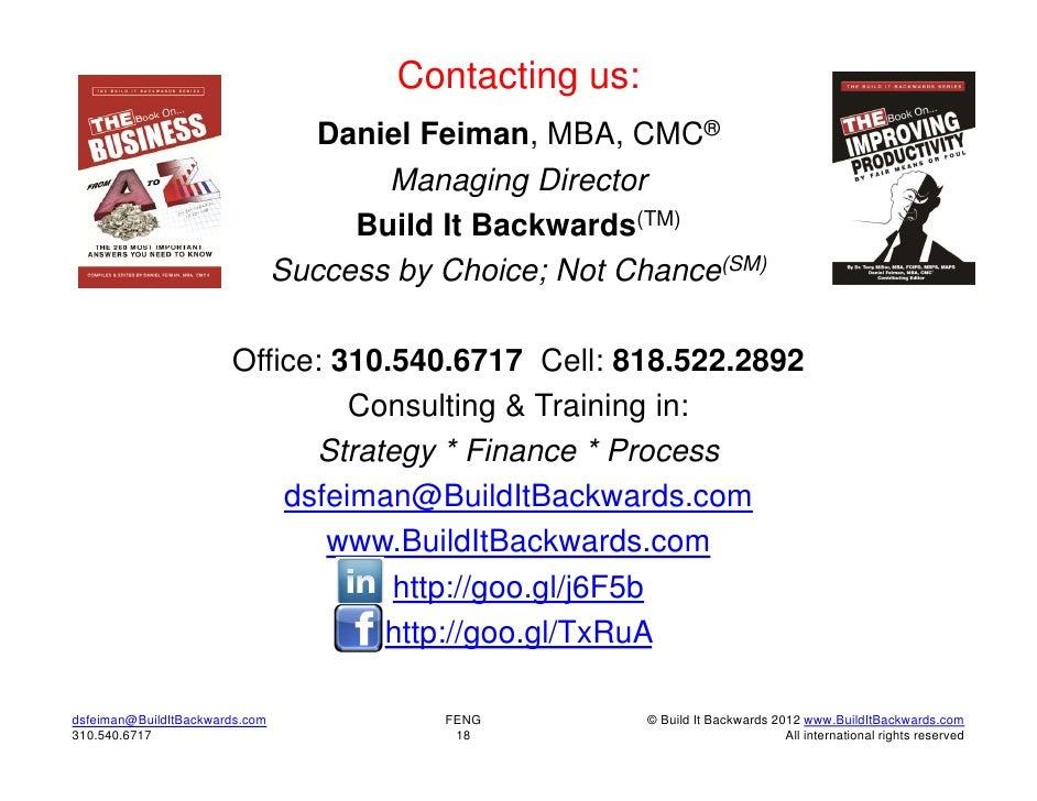 Contacting us:                                   Daniel Feiman, MBA, CMC®                                       Managing D...