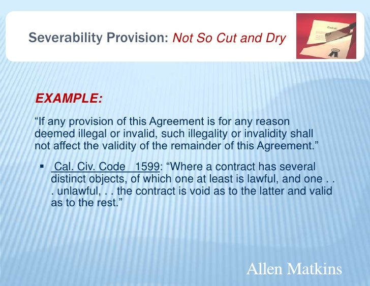 What Is a Severity Clause?