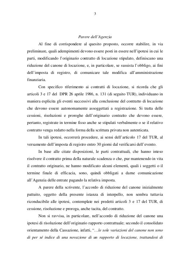 Riduzione del canone di locazione risoluzione 60 e - Contratto di affitto ad uso abitativo ...