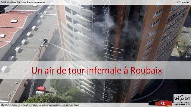 DUT Hygiène Sécurité Environnement  Un air de tour infernale à Roubaix  Delahaye Sam ; Helfaya Céralia ; Lelaidier Alexand...