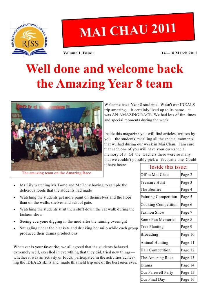 M AI CHAU 2011                             Volume 1, Issue 1                                           14—18 March 2011   ...