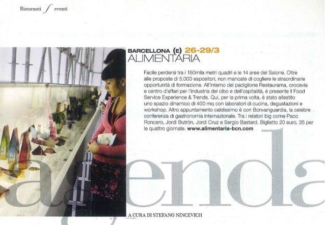 Ristoranti Eventi: Alimentaria. Ristoranti (Italia), febrero 2012