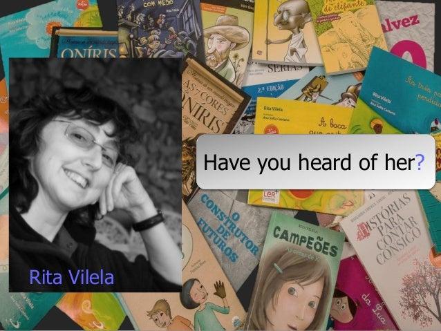 Have you heard of her? Rita Vilela