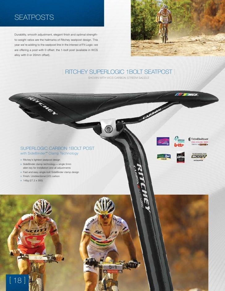 27.2 x 350mm Ritchey Superlogic Carbon 1-Bolt Bike Bicycle Seatpost
