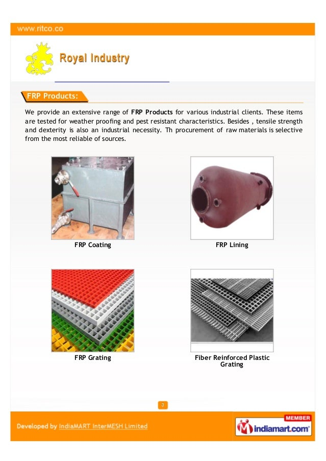 Royal Industry, Bengaluru, FRP Products