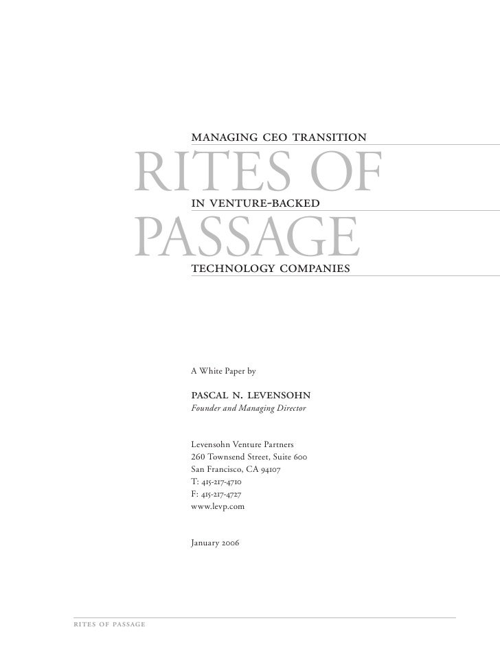                  Rites of                     -               Passage                 ...