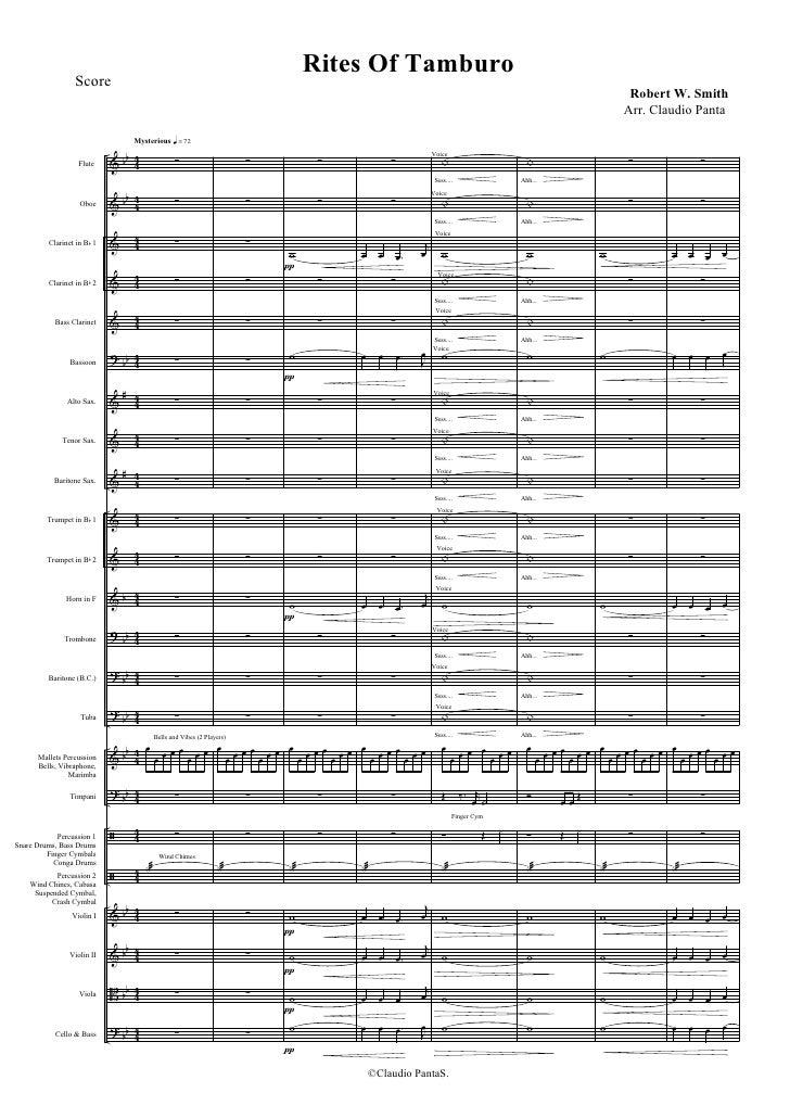 Rites of Tamburo - Orchestra