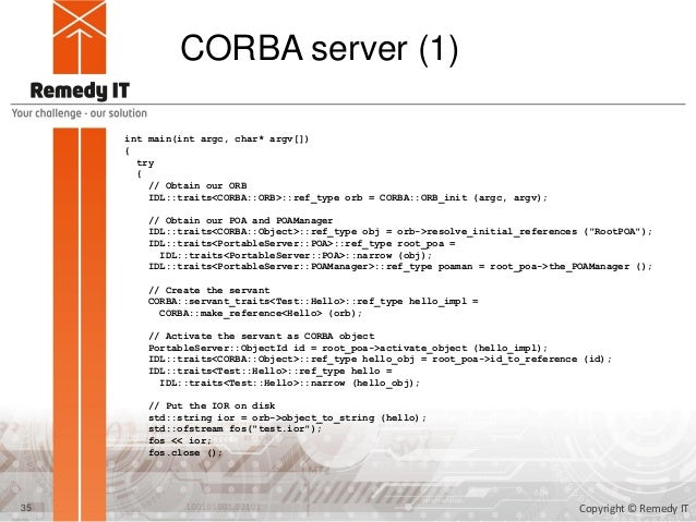 CORBA Programming with TAOX11/C++11 tutorial