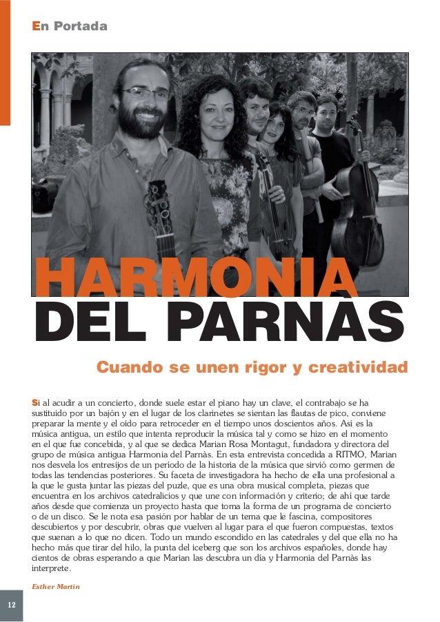 En Portada     HARMONIA     DEL PARNÀS                      Cuando se unen rigor y creatividad     Si al acudir a un conci...
