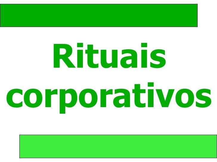 Rituais corporativos