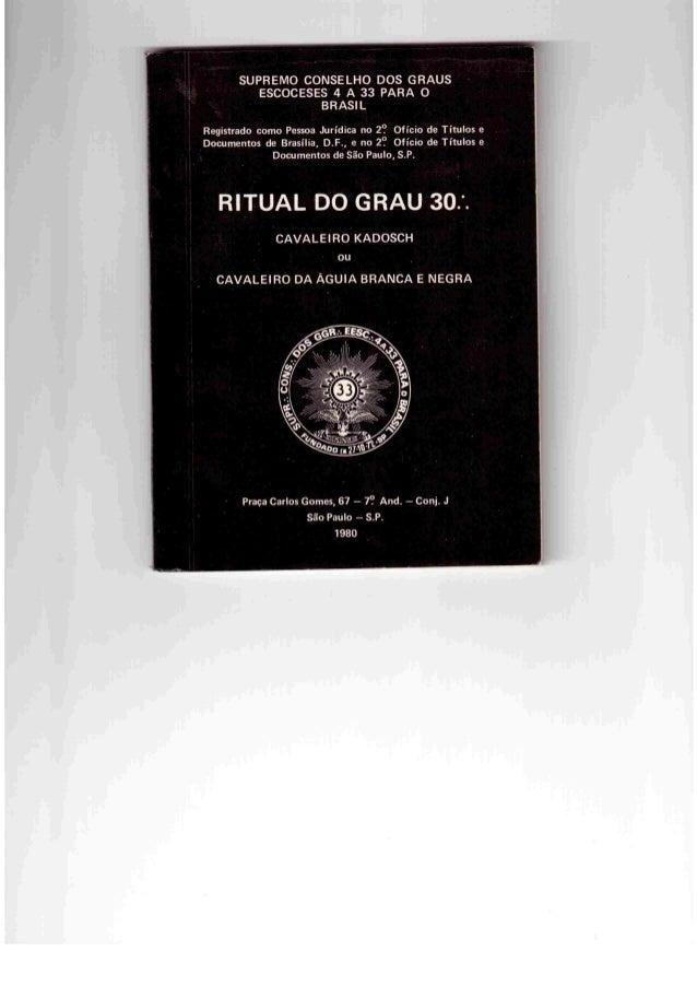 SUPREMO CONSELHO DOS GRAUS ESCOCESES 4 A 33 PARA O BRASIL  Registrado como Pessoa Jurídica no 2? Ofício de Títulos e Docum...