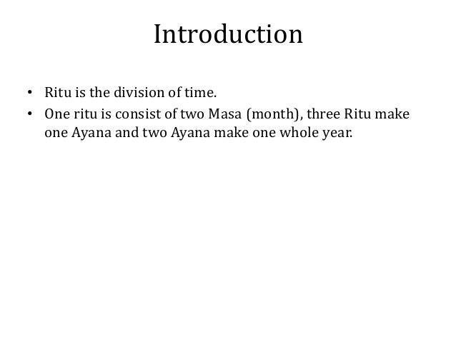 Ritucharya Slide 2