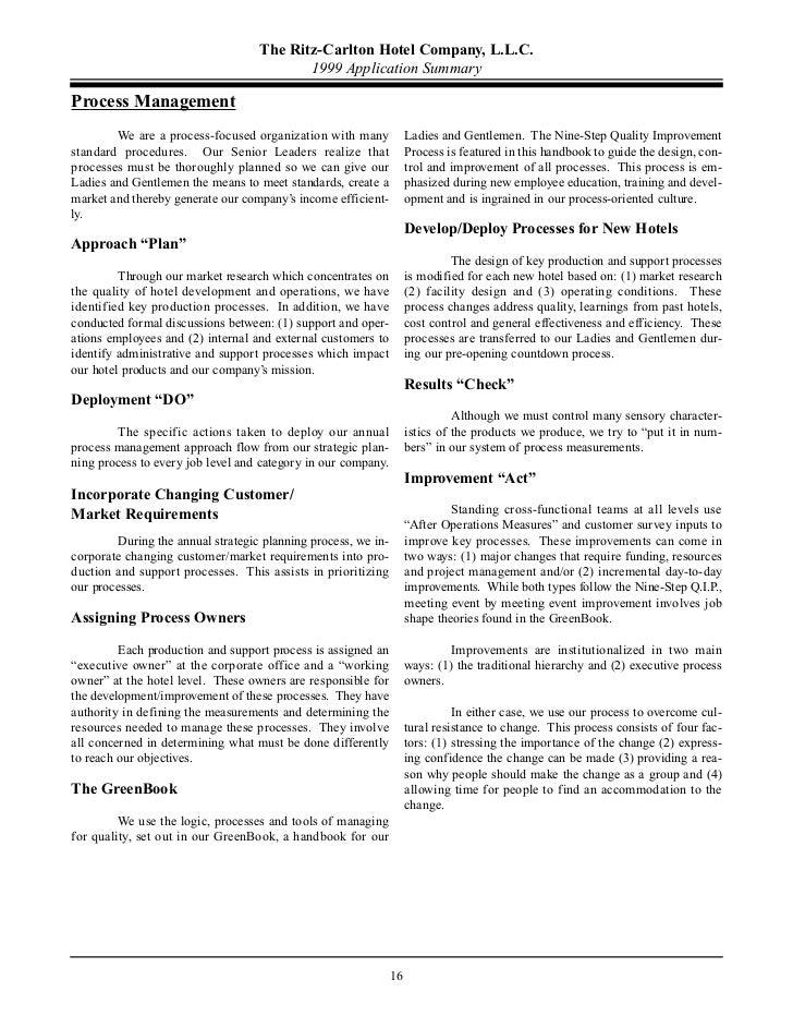 ritz carlton training manual