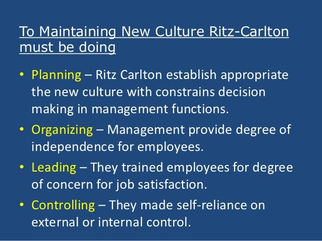 what challenges do you think the company faced to change the culture in ritz carlton Andrew torriani, 52, is a hospitality triple threat – president, ceo and general  manager of the ritz-carlton montreal which is all the more.