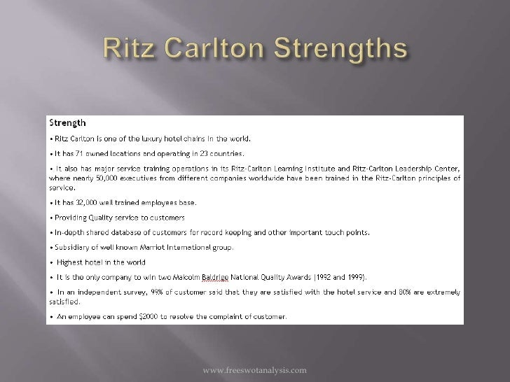 Ritz Carlton Hotel Company Case Study Help - Case Solution & Analysis