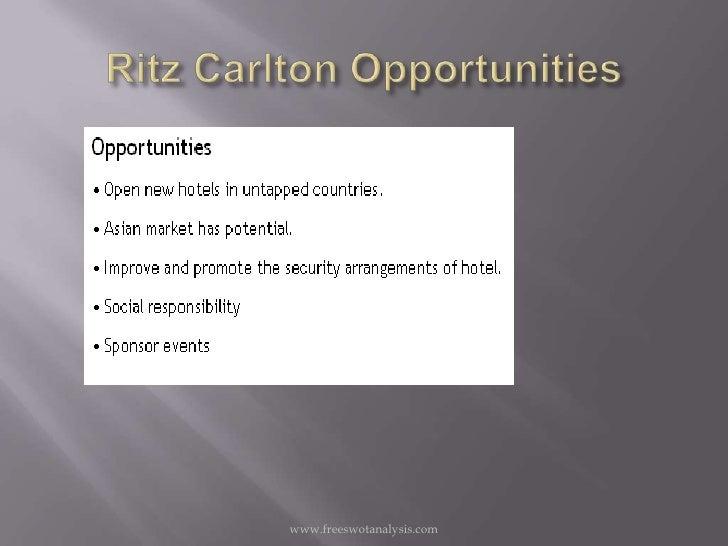 Ritz Carlton Swot Analysis