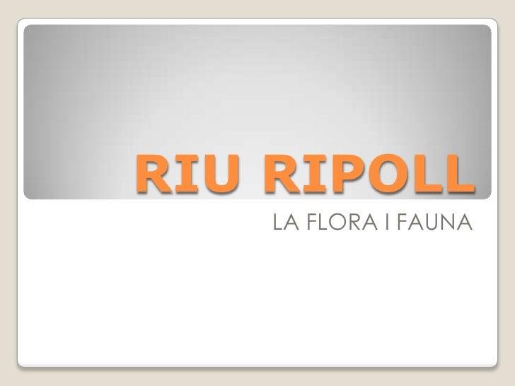 RIU RIPOLL    LA FLORA I FAUNA