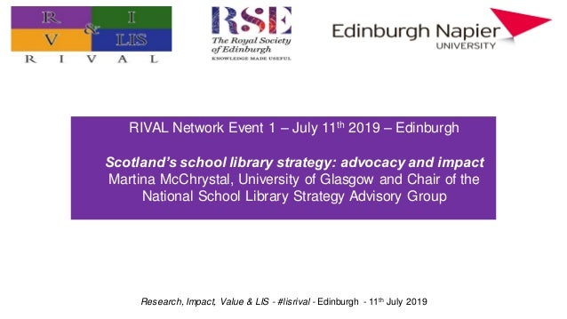 Research, Impact, Value & LIS - #lisrival - Edinburgh - 11th July 2019 Practitioner research: value, impact, and prioritie...