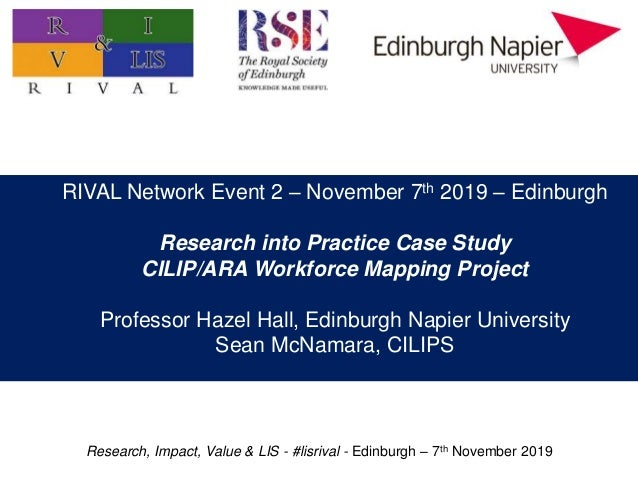 Research, Impact, Value & LIS - #lisrival - Edinburgh – 7th November 2019 Practitioner research: value, impact, and priori...