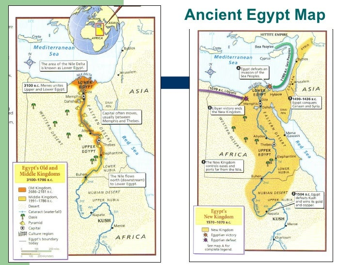 River Civs Intro - Map of egypt upper and lower