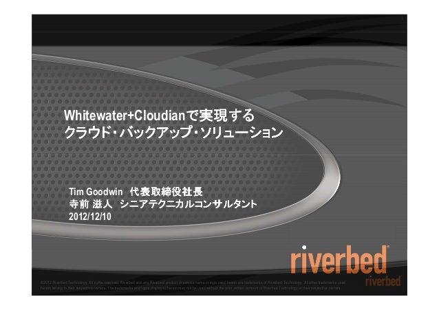 1             Whitewater+Cloudianで実現する                                で実現する             クラウド・バックアップ・ソリューション               ...