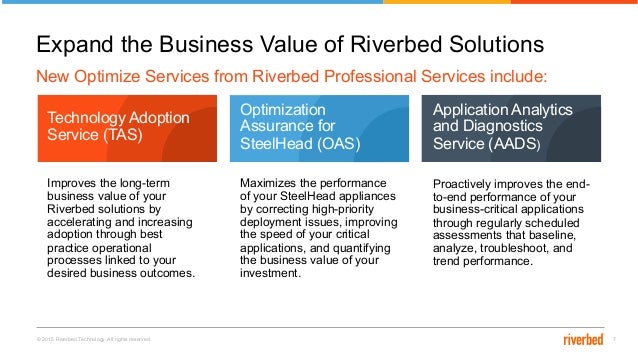 Expand the Business Value of Riverbed Solutions with New Optimize Ser…