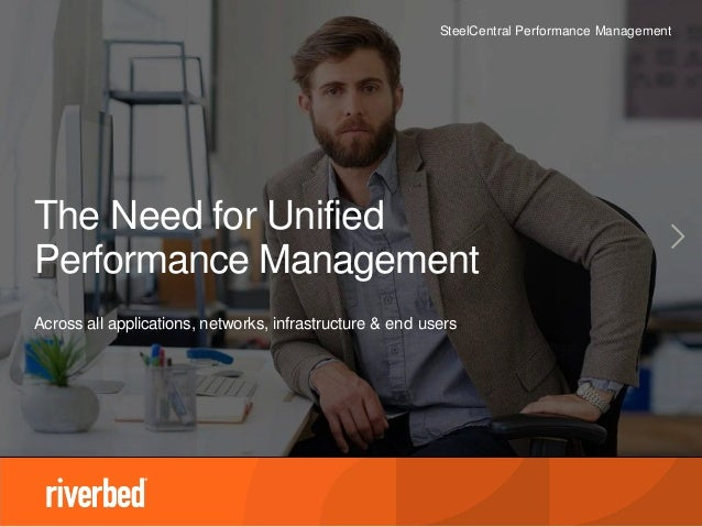 SteelCentral Performance Management The Need for Unified Performance Management Across all applications, networks, infrast...
