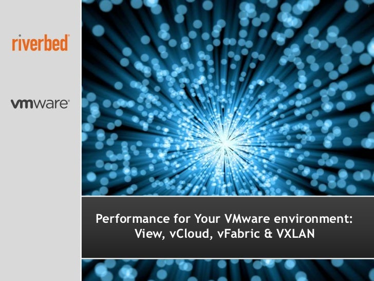 1Performance for Your VMware environment:      View, vCloud, vFabric & VXLAN