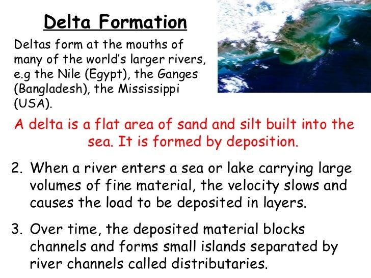 How To Draw A Delta Landform