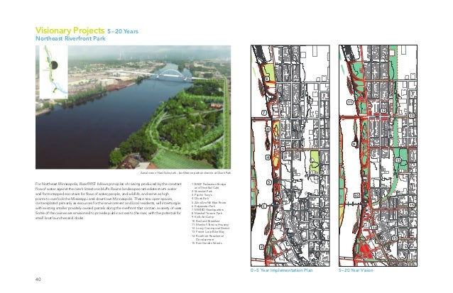 40 Aerial view of East Side park – biofiltration path and ravine at Gluek Park 9 10 11 12 13 14 15 15 15 1 2 4 6 8 7 5 3 0...