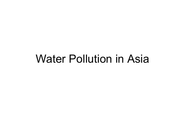 Water Pollution in Asia