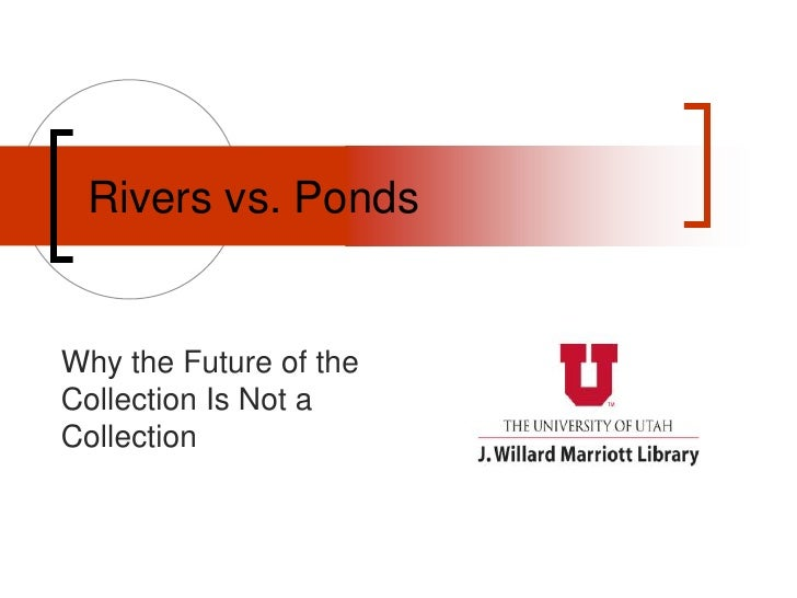 Rivers vs. Ponds<br />Why the Future of the Collection Is Not a Collection<br />