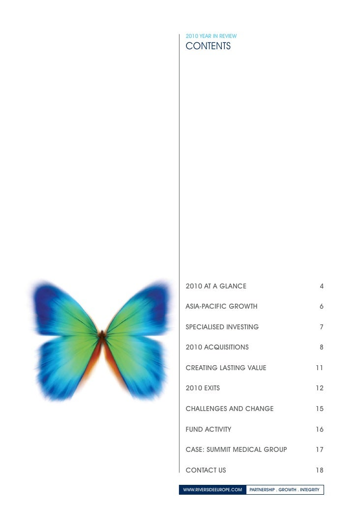 The Riverside Company 2010 Annual Report