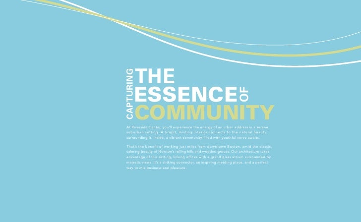 the  Capturing         essence                                                                     of         community  A...