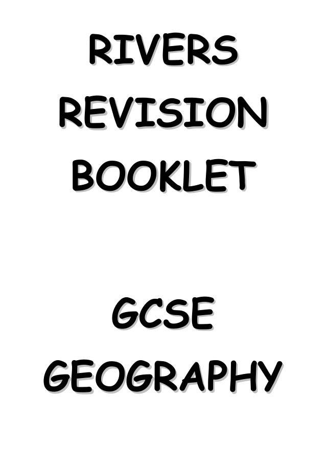 RIVERSREVISION BOOKLET  GCSEGEOGRAPHY