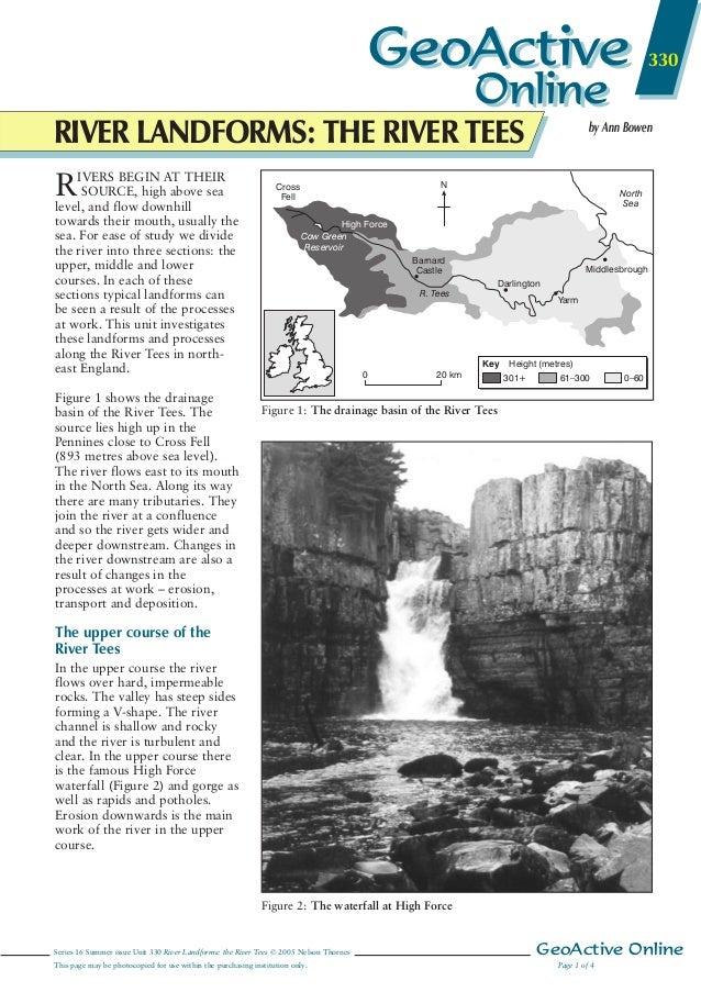 river tees case study landforms