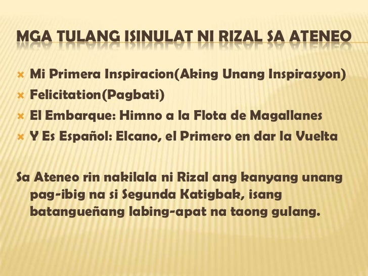 felicitation by jose rizal The last poem of rizal: his friend mariano ponce gave it the title of mi ultimo adios, as it originally had none farewell, my adored land, region of the sun caressed.