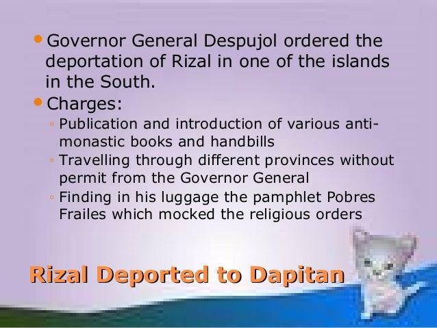 Rizal deported in dapitan
