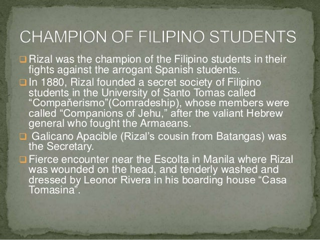 rizal course José rizal was a supporter of peaceful reform whose 1896 execution helped end  spain's rule in the philippines learn more at biographycom.