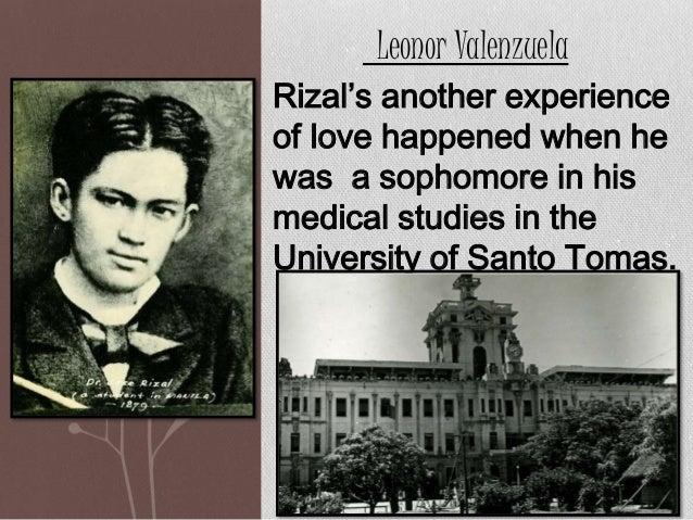 Rizal as a lover