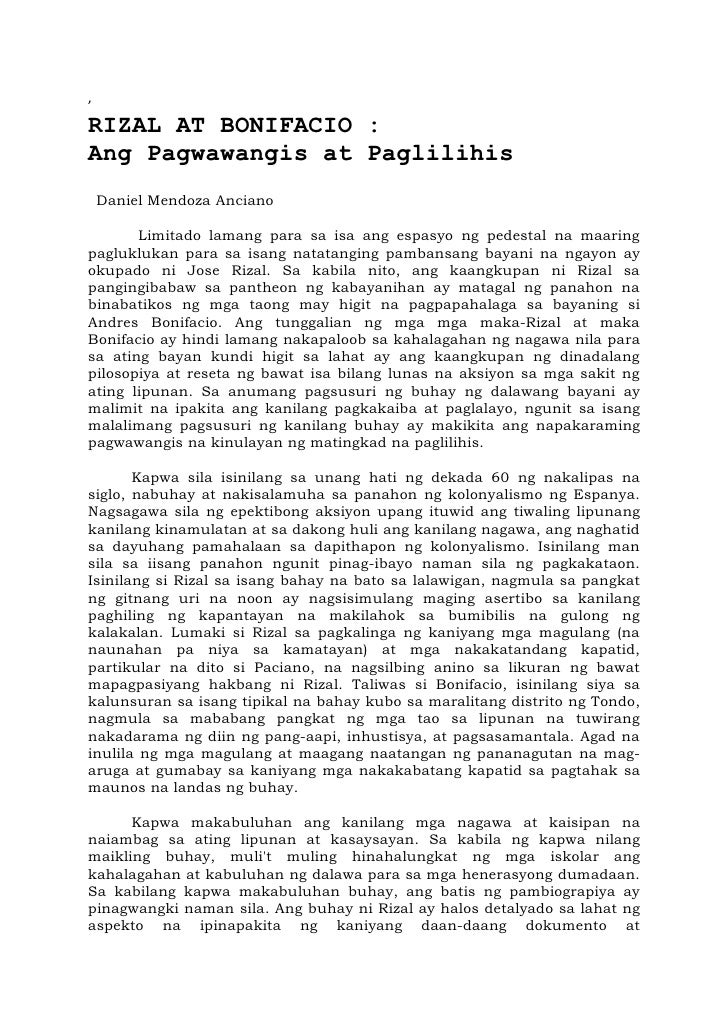 mga nagawa ni rizal The katipunan and the cuerpo de compromisarios were, effectively, successor organizations of la liga filipina, founded by josé rizal (who.