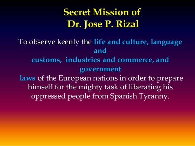 Dr. Rizal's Travels and Homecomings