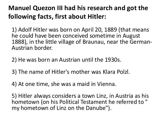 rizal sired hitler Is it true that adolf hitler is the son of drjose rizal 7 following  33  is it true that sired hitler is the son of our national hero jose rizal.