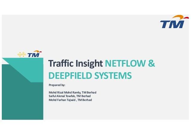 Traffic Insight NETFLOW & DEEPFIELD SYSTEMS Prepared by: Mohd Rizal Mohd Ramly, TM Berhad Saiful Akmal Towfek, TM Berhad M...