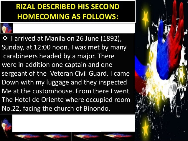 rizal chapter 22 Rizal and his sister lucia arrived in manila at nooon of sunday, june 26, 1892,  on board  we will write a custom essay sample on chapter 22 exile in dapitan.