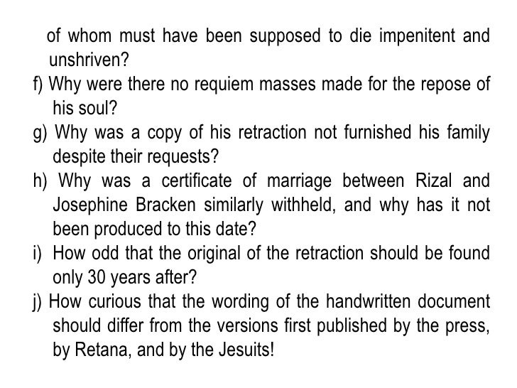 "retraction of rizal ""rizal's retraction letter scholars are still debating about many historical controversies and issues whether they are true or valid including one of the major controversies regarding."